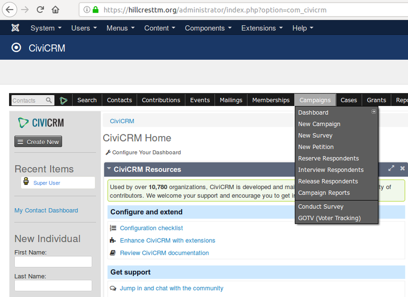CiviCRM has numerous capabilities for administering fundraising and other campaigns.