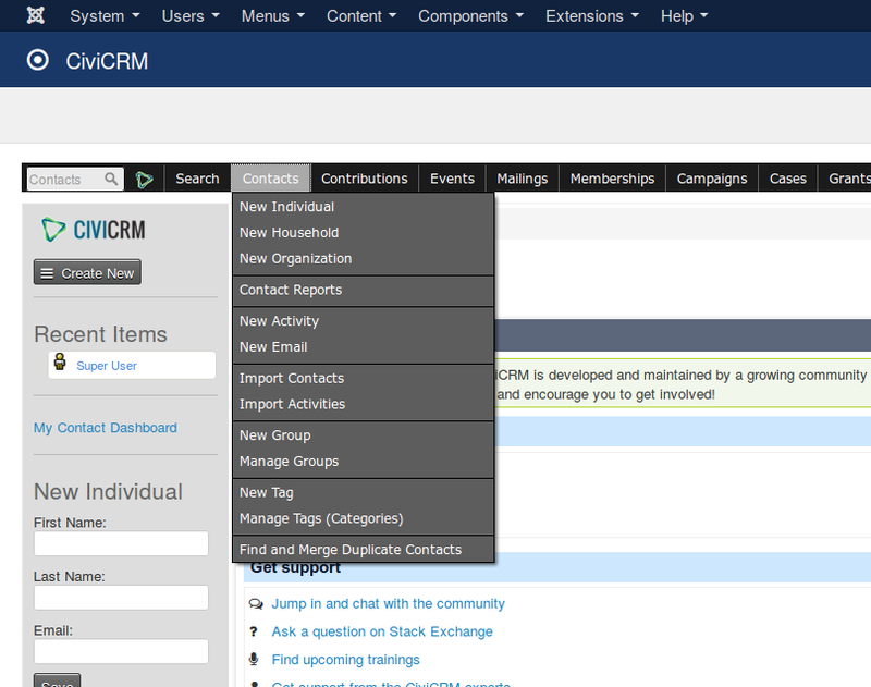 CiviCRM has numerous capabilities for administering contacts for an organization.