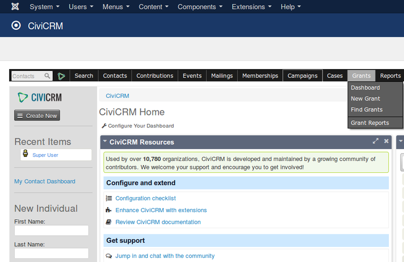 CiviCRM gives non-profits the tools for keeping track of grants and grant-writing tasks.